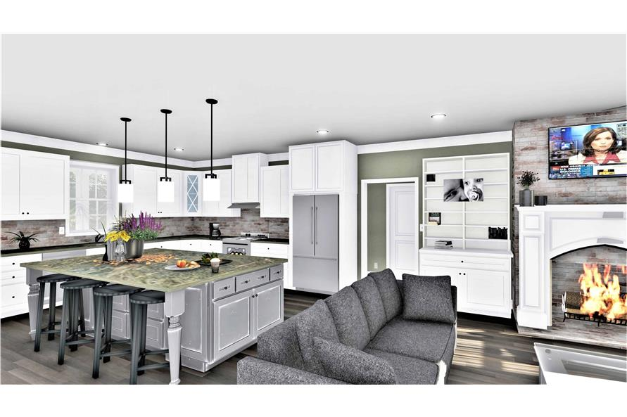 Kitchen of this 3-Bedroom,2090 Sq Ft Plan -2090