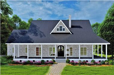 3-Bedroom, 2090 Sq Ft Ranch Home Plan - 123-1114 - Main Exterior
