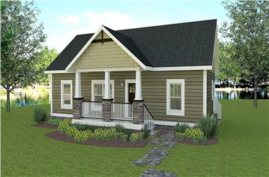3-Bedroom, 1311 Sq Ft Country House - Plan 123-1115 - Front Exterior