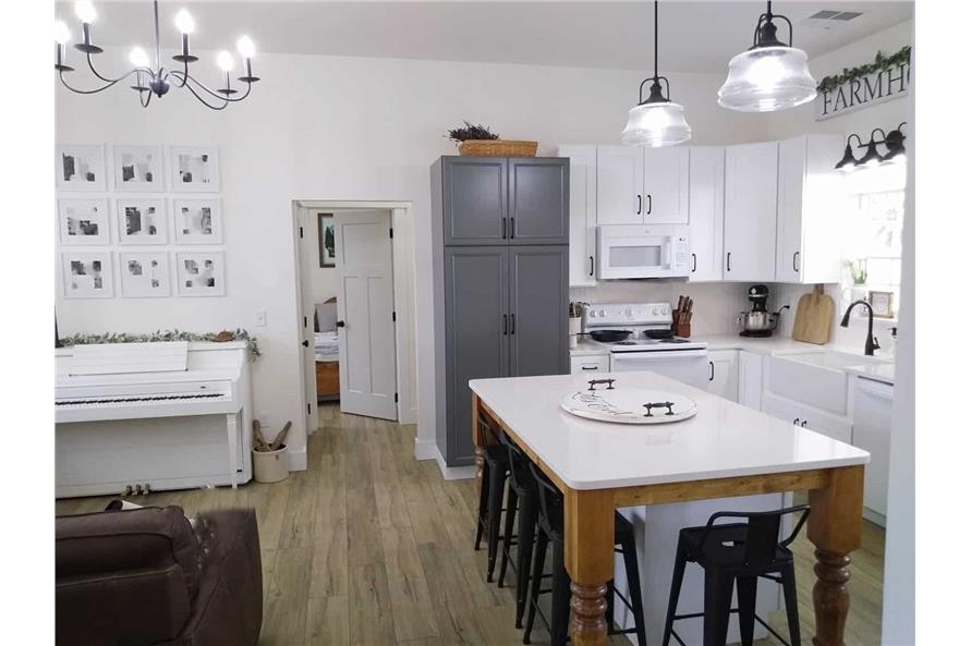 Kitchen of this 3-Bedroom,1035 Sq Ft Plan -123-1116