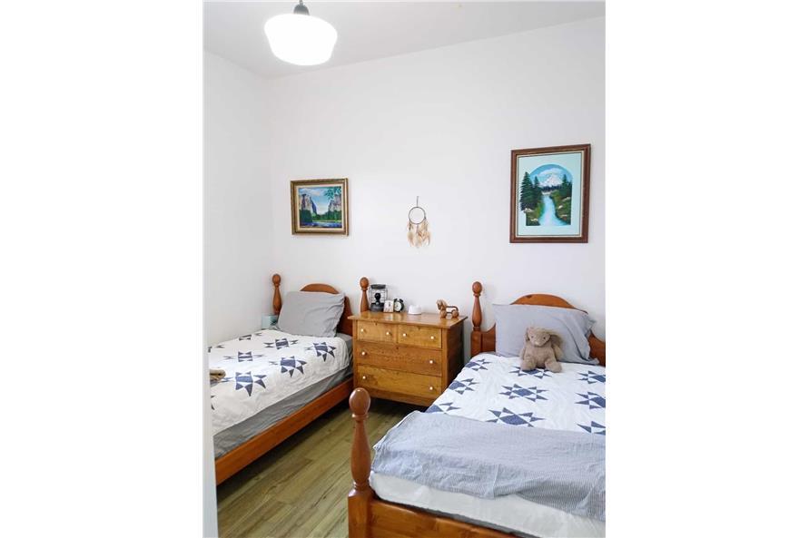 Bedroom of this 3-Bedroom,1035 Sq Ft Plan -123-1116