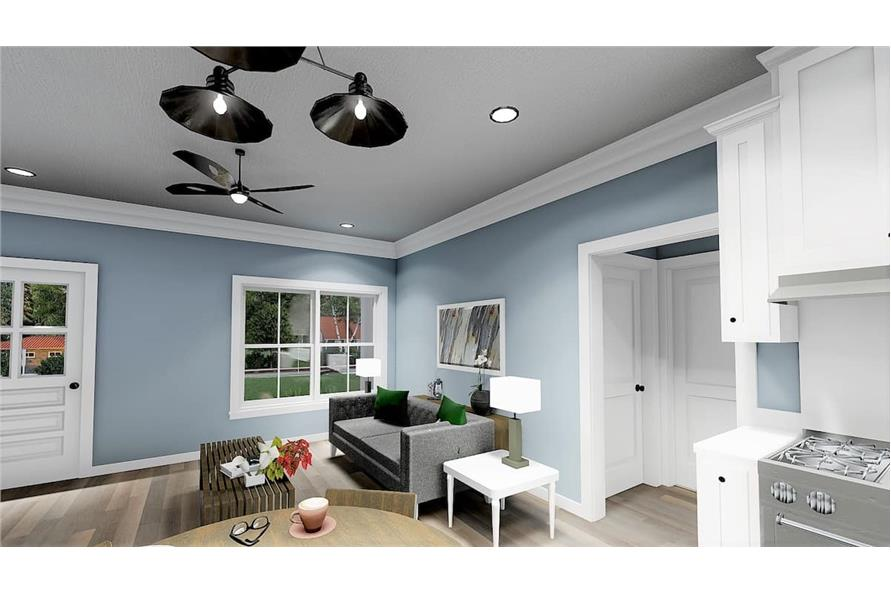Great Room of this 3-Bedroom,1035 Sq Ft Plan -123-1116