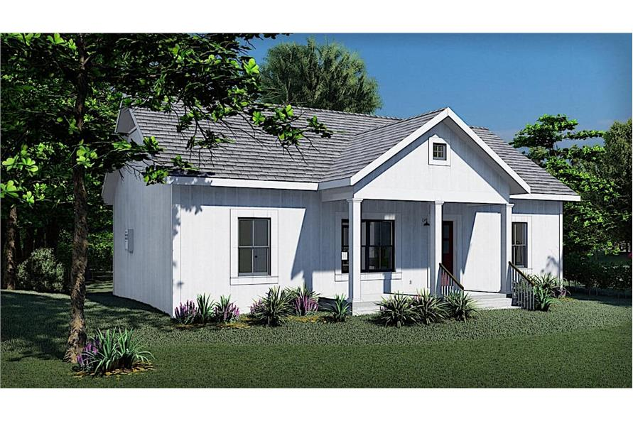 Side View of this 3-Bedroom,1035 Sq Ft Plan -123-1116