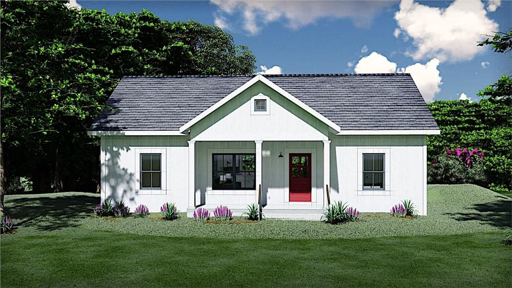 Ranch home (ThePlanCollection: Plan #123-1116)