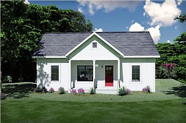 3-Bedroom, 1035 Sq Ft Ranch Home - Plan #123-1116 - Main Exterior