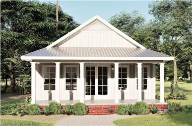 2-Bedroom, 1120 Sq Ft Ranch House - Plan #123-1117 - Front Exterior