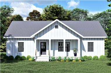 3-Bedroom, 1425 Sq Ft Ranch House - Plan #123-1118 - Front Exterior