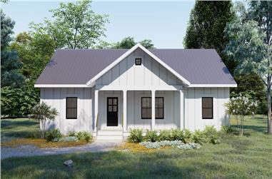 3-Bedroom, 1502 Sq Ft Ranch Home Plan - 123-1119 - Main Exterior