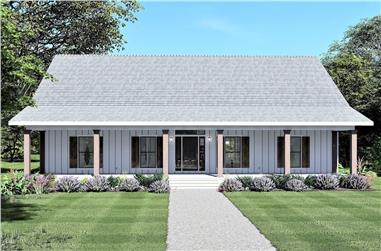 4-Bedroom, 2097 Sq Ft Country Home - Plan #123-1121 - Main Exterior