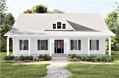 3-Bedroom, 2102 Sq Ft Contemporary House - Plan #123-1123 - Front Exterior