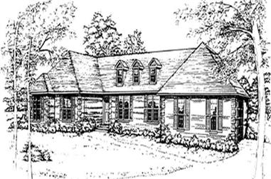 3-Bedroom, 2480 Sq Ft French House Plan - 124-1000 - Front Exterior