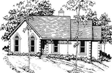 3-Bedroom, 1541 Sq Ft Ranch Home Plan - 124-1001 - Main Exterior