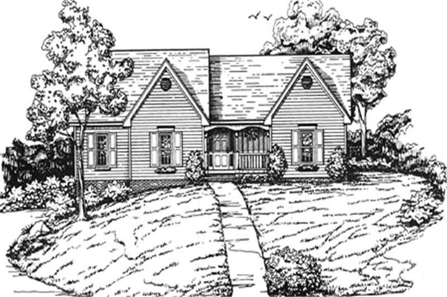 2-Bedroom, 1730 Sq Ft Country Home Plan - 124-1002 - Main Exterior