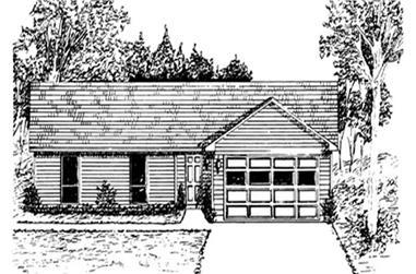 3-Bedroom, 1694 Sq Ft Ranch Home Plan - 124-1004 - Main Exterior