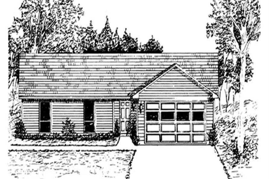 3-Bedroom, 1694 Sq Ft Ranch Home Plan - 124-1004 - Main Exterior