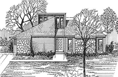 3-Bedroom, 1646 Sq Ft Contemporary Home Plan - 124-1005 - Main Exterior
