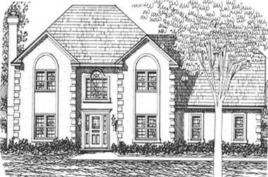 3-Bedroom, 2683 Sq Ft European House Plan - 124-1007 - Front Exterior