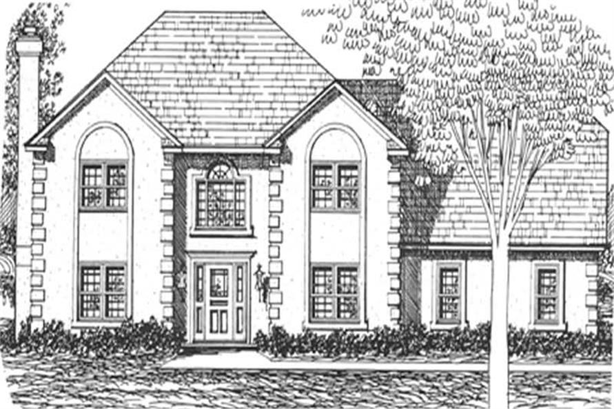 3-Bedroom, 2683 Sq Ft European House Plan - 124-1007 - Front Exterior