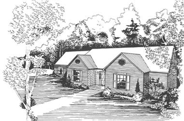 3-Bedroom, 2102 Sq Ft Country House Plan - 124-1008 - Front Exterior