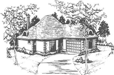 3-Bedroom, 2157 Sq Ft French House Plan - 124-1009 - Front Exterior