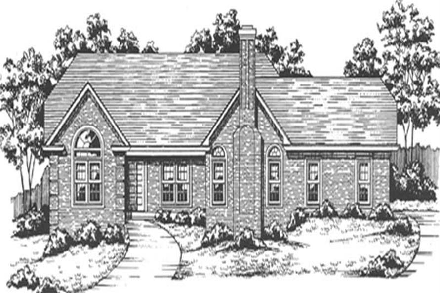 3-Bedroom, 2244 Sq Ft Country House Plan - 124-1010 - Front Exterior