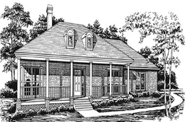 3-Bedroom, 2316 Sq Ft Colonial House Plan - 124-1012 - Front Exterior