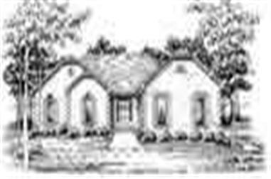 3-Bedroom, 1741 Sq Ft Ranch House Plan - 124-1016 - Front Exterior