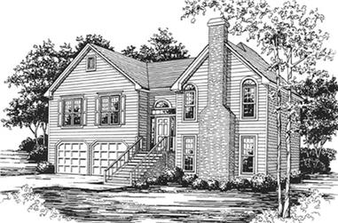 3-Bedroom, 2009 Sq Ft Country House Plan - 124-1018 - Front Exterior