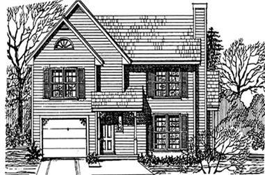 3-Bedroom, 1851 Sq Ft Cape Cod Home Plan - 124-1022 - Main Exterior