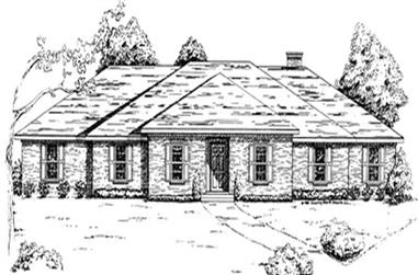 3-Bedroom, 2155 Sq Ft European House Plan - 124-1023 - Front Exterior