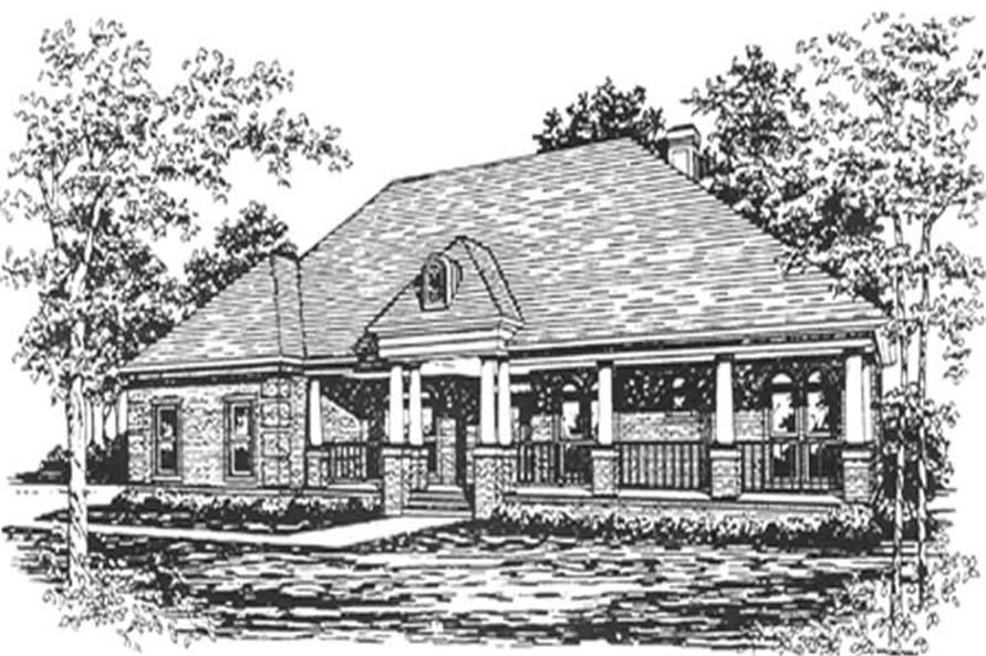 4-Bedroom, 2756 Sq Ft French House Plan - 124-1024 - Front Exterior