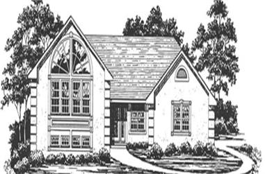 3-Bedroom, 1754 Sq Ft Small House Plans - 124-1025 - Front Exterior