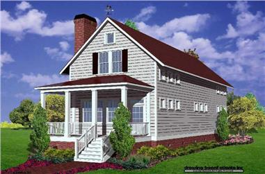 Front elevation of Country home (ThePlanCollection: House Plan #124-1026)