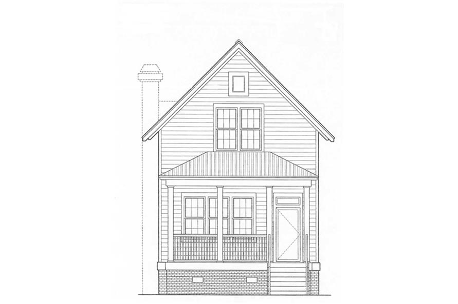 Home Plan Front Elevation of this 3-Bedroom,2034 Sq Ft Plan -124-1026
