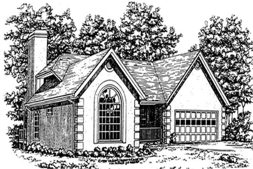 Home Plan Front Elevation of this 3-Bedroom,1860 Sq Ft Plan -124-1027