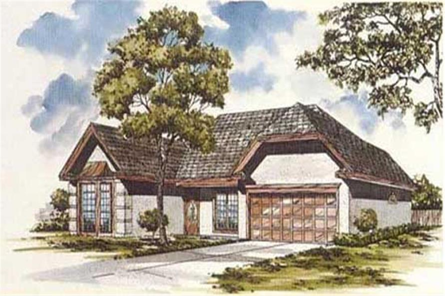 3-Bedroom, 1860 Sq Ft European Home Plan - 124-1028 - Main Exterior