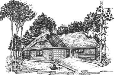 2-Bedroom, 1803 Sq Ft European Home Plan - 124-1029 - Main Exterior