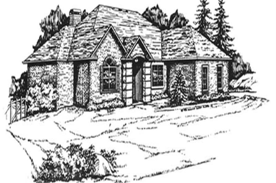 3-Bedroom, 2026 Sq Ft European Home Plan - 124-1030 - Main Exterior