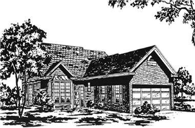 2-Bedroom, 1879 Sq Ft Ranch Home Plan - 124-1033 - Main Exterior