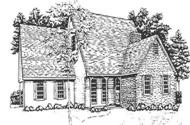3-Bedroom, 1952 Sq Ft Country House Plan - 124-1034 - Front Exterior
