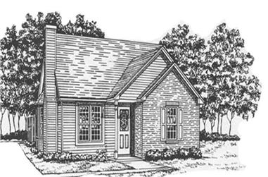 2-Bedroom, 988 Sq Ft Bungalow House Plan - 124-1036 - Front Exterior