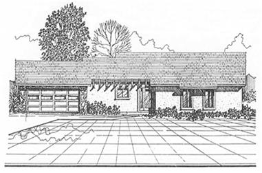 3-Bedroom, 1435 Sq Ft Ranch House Plan - 124-1037 - Front Exterior