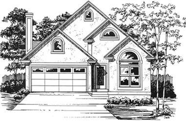 3-Bedroom, 1749 Sq Ft Bungalow Home Plan - 124-1041 - Main Exterior