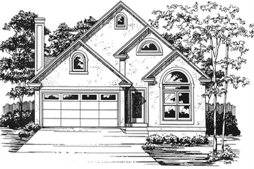 3-Bedroom, 1749 Sq Ft Bungalow Home Plan - 124-1041 - Main Exterior