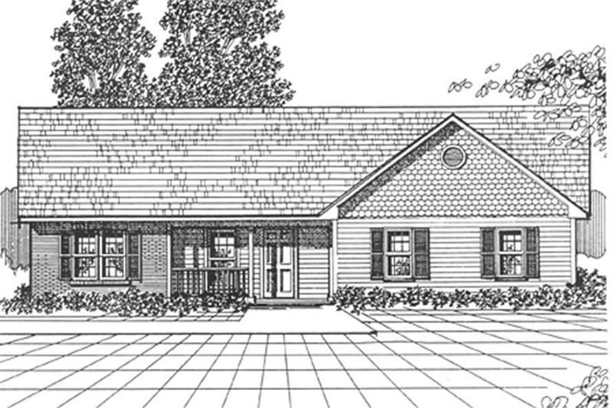 Main image for house plan # 7461