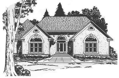 4-Bedroom, 3151 Sq Ft European House Plan - 124-1043 - Front Exterior
