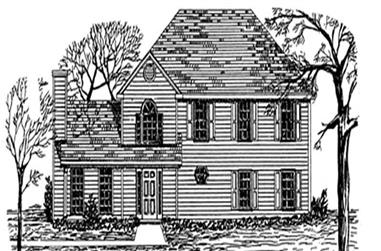 3-Bedroom, 1806 Sq Ft Colonial Home Plan - 124-1045 - Main Exterior