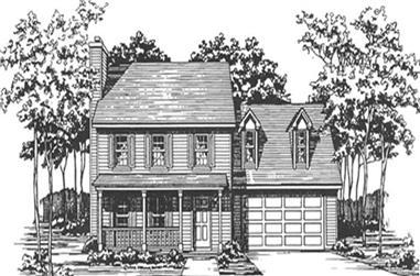 3-Bedroom, 1638 Sq Ft Cape Cod Home Plan - 124-1046 - Main Exterior
