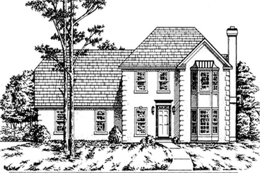 3-Bedroom, 1869 Sq Ft Colonial Home Plan - 124-1047 - Main Exterior