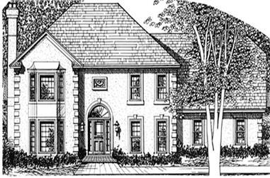 3-Bedroom, 2194 Sq Ft European House Plan - 124-1048 - Front Exterior